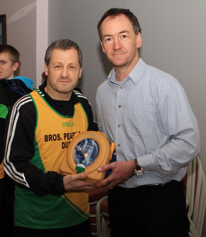 presentation to Bros Pearse AC